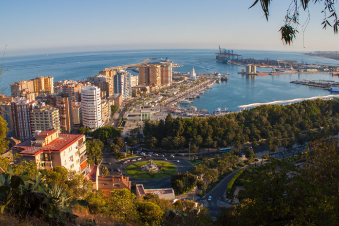 Malaga - mesto z výšky