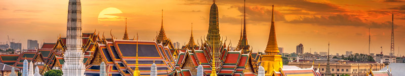Bangkok, západ Slnka