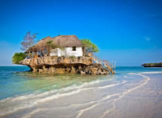 Zanzibar ostrovček s domom