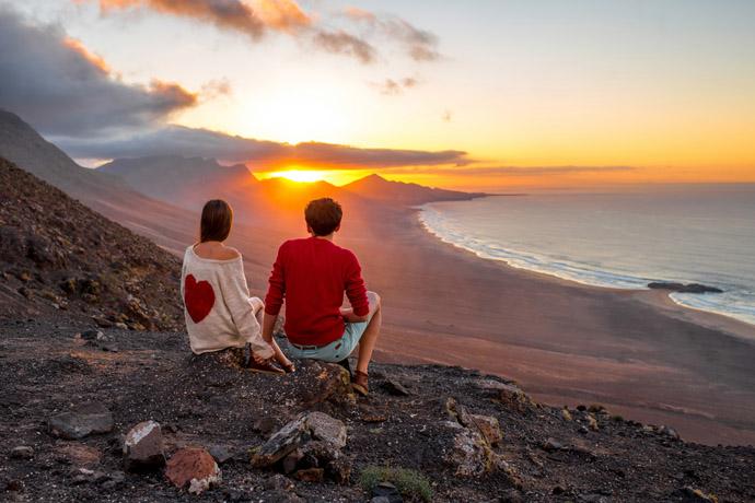 zaľúbená dvojica na ostrove Fuerteventura