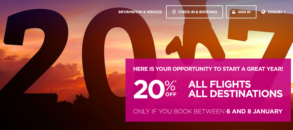 letenky WizzAir - zľava 20%