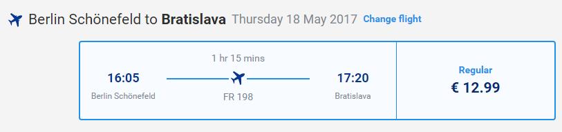 letenky z Berlína do Bratislavy