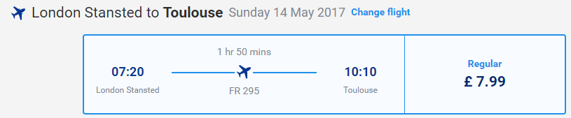 letenky z Londýna do Toulouse