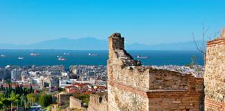 Thessaloniki, pohľad na mesto a pobrežie