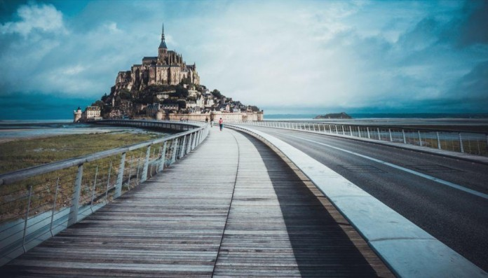 Opátstvo Saint Michel Normandia
