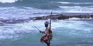 rybár na srílanke