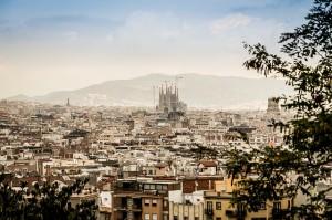 barcelona mesto z výšky