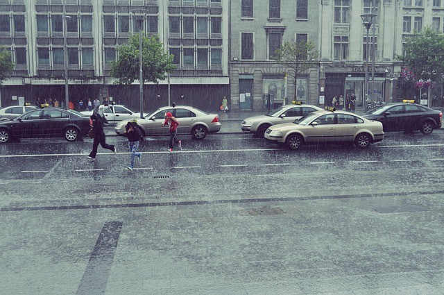 daždivý dublin v írsku