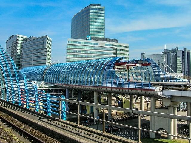 vlaková stanica v amsterdame