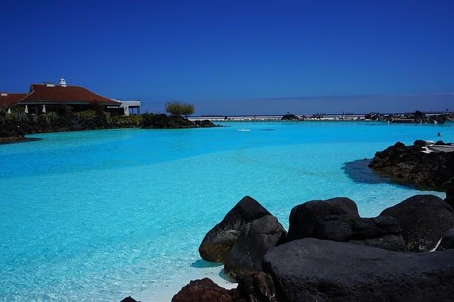 priezračná voda na kanárskych ostrovoch