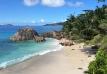 pláž na seychelach