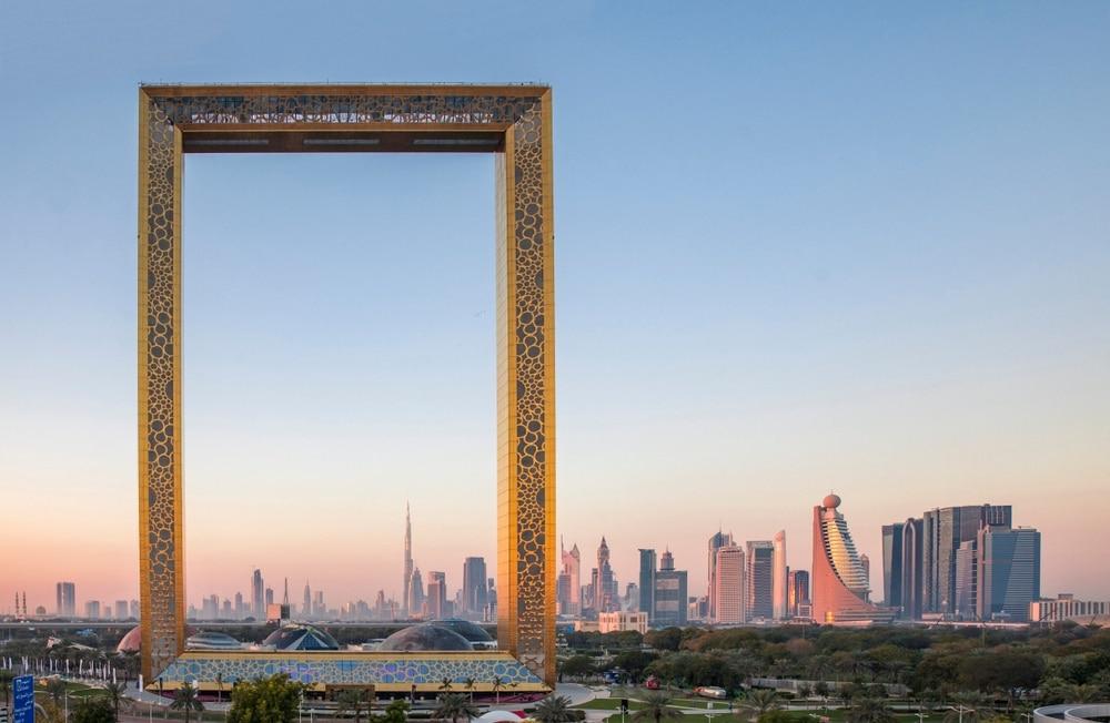 Budova Dubai Frame