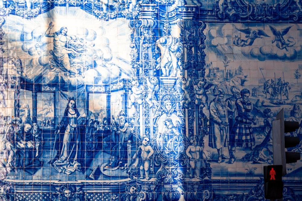 Azulejos, porto, portugalsko
