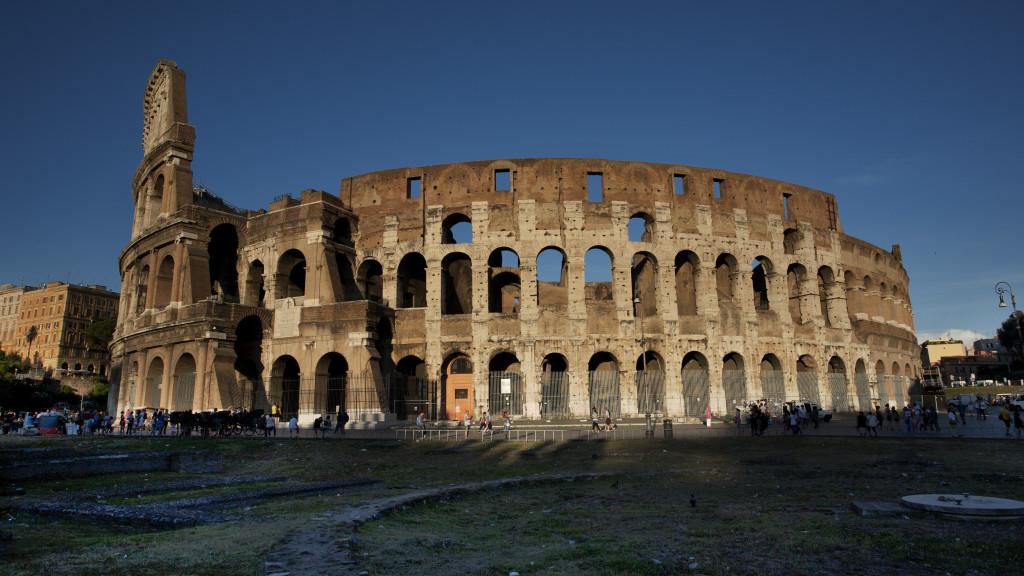 Koloseum v Ríme v Taliansku