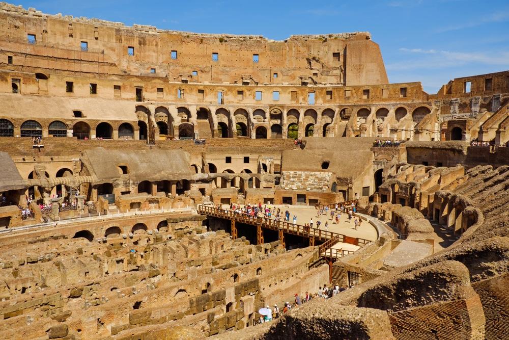 vnútro koloseum rím