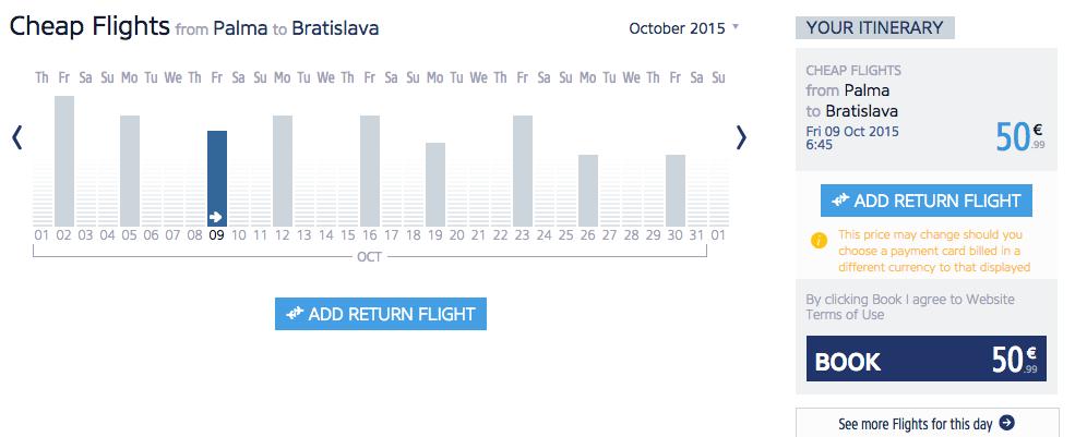 Letenky z Malorky do Bratislavy
