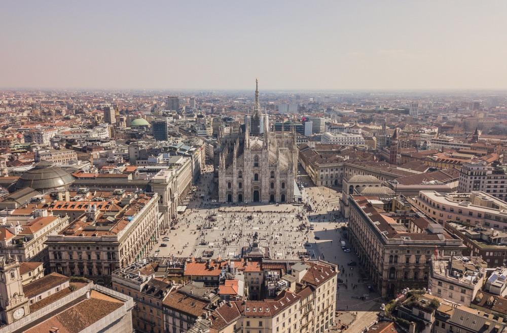miláno Piazza del Duomo
