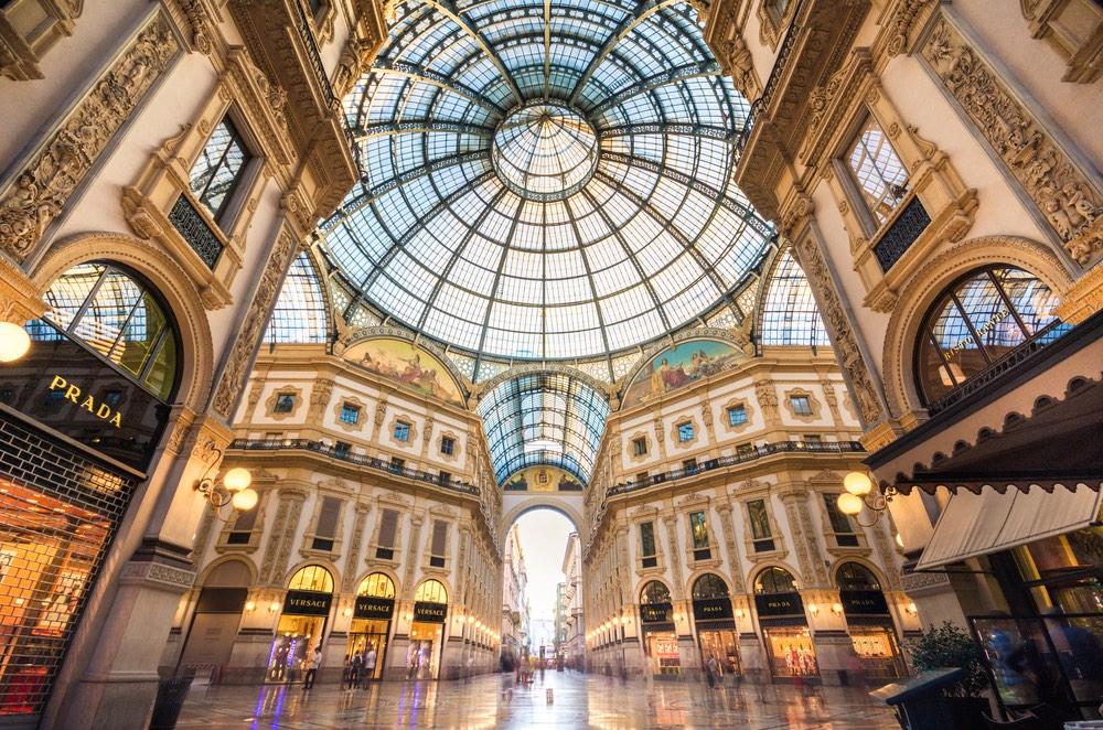 miláno Galleria Vittorio Emanuele II