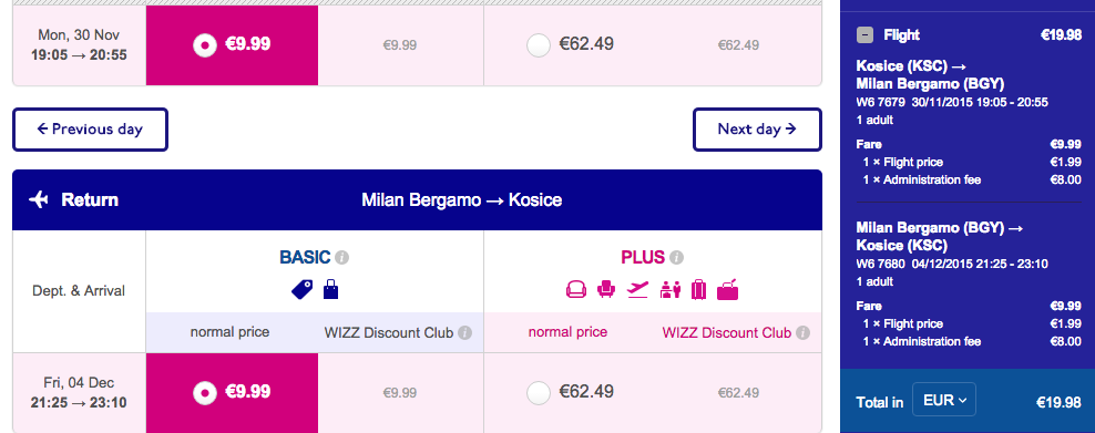 Wizz Air-milano