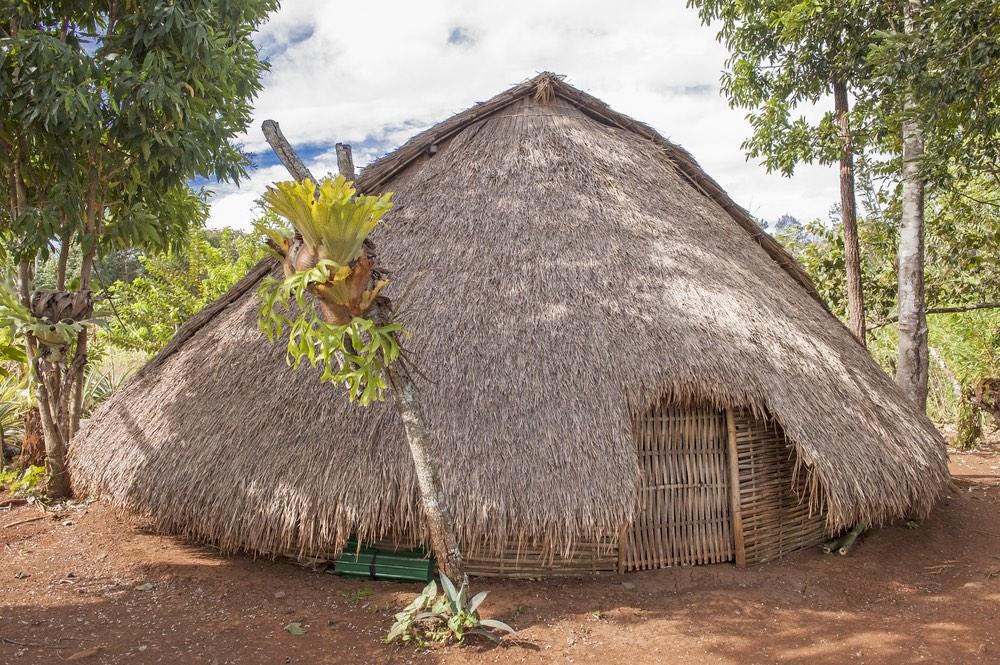 Obydlie ľudí z kmeňa Bunong