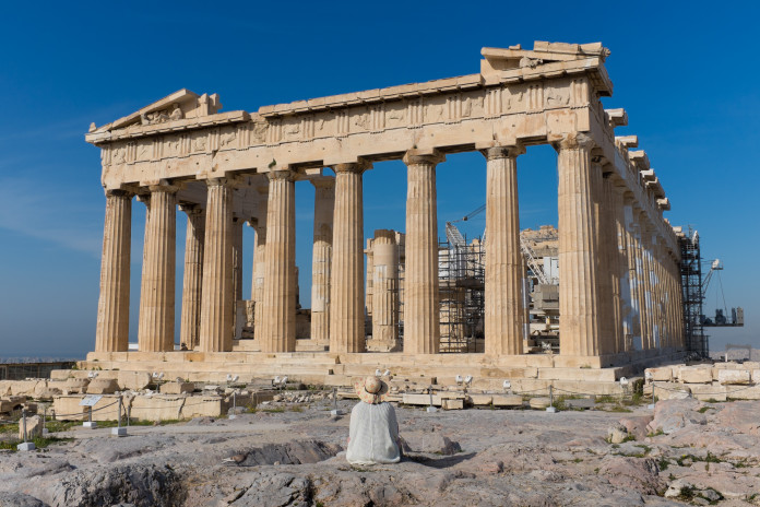 Parthenon v Grécku v Aténach