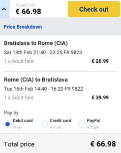 Valentínske letenky do Ríma