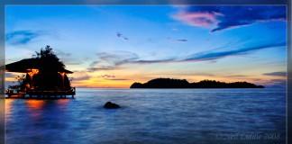 Indonézia v noci