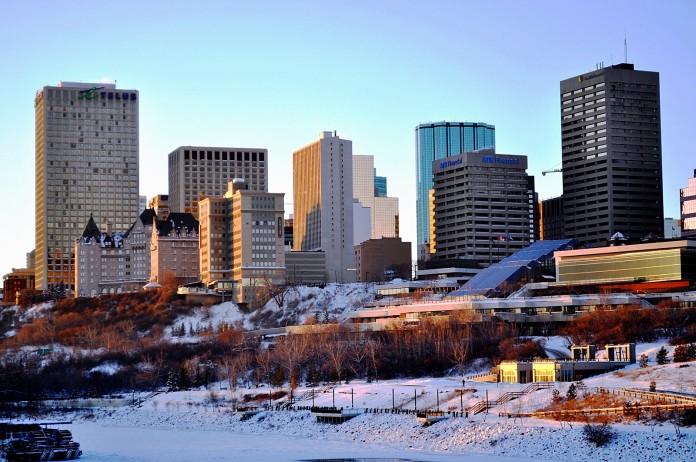 Edmonton v zime