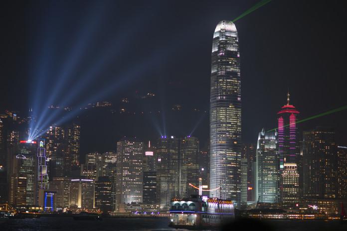 Hong Kong v noci