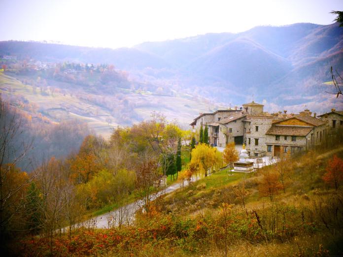 Talianska Bologňa na jeseň