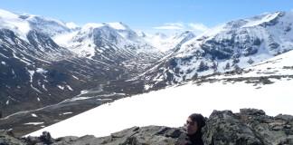 Nórske hory v zime