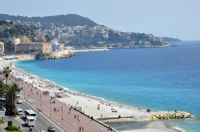 Pláž v Nice pohľad zhora
