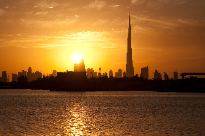 Východ slnka v Dubaji