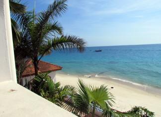 Výhľad na pláž v Zanzibare
