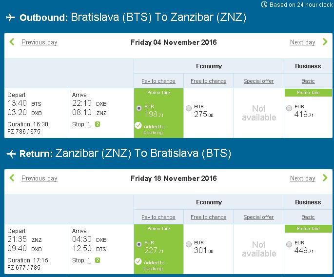 letenky Zanzibar