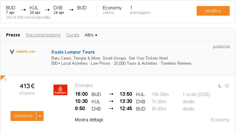 letenky Kuala Lumpur Dubaj
