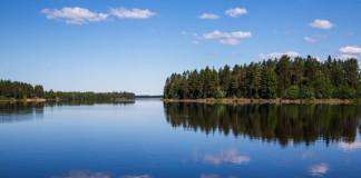 jazero vo Fínsku