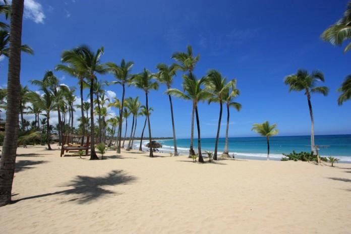 Dominikánska republika pláž