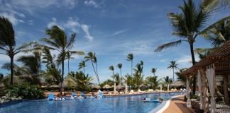 bazén v hoteli v Punta Cana