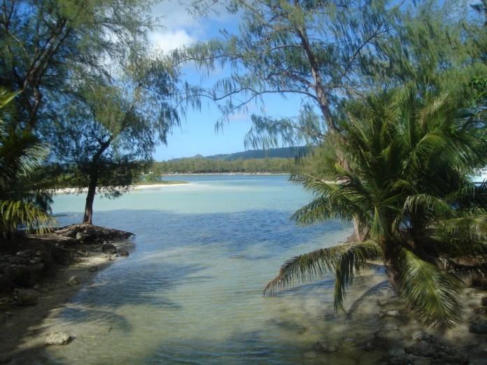 pláž na ostrove Saipan v Mikronézii