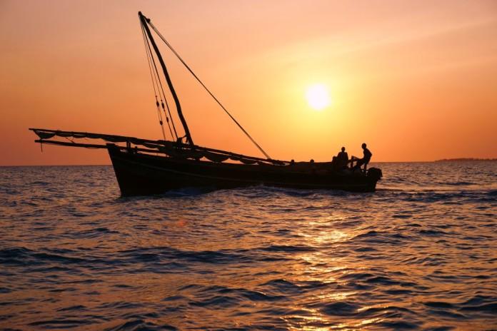 loďka na Zanzibare