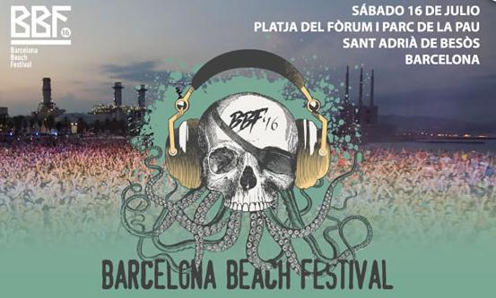 Festival v Barcelone na pláži