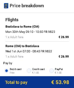 letenky Rím