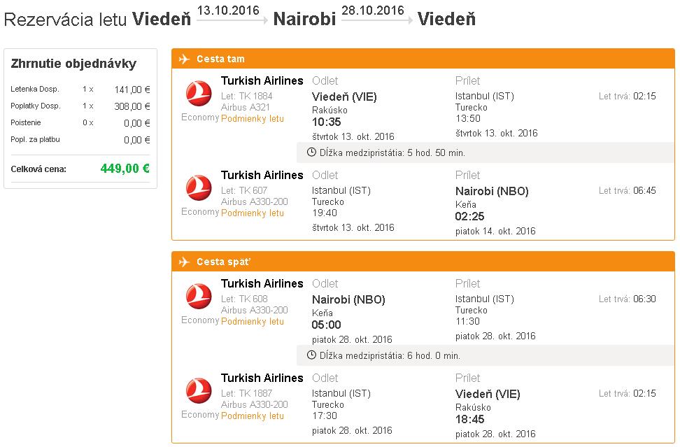 letenky Nairobi