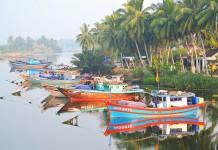 Viatnam loďky, dedinka