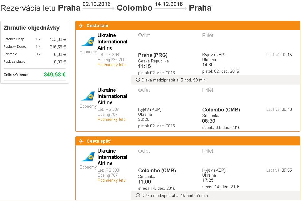 letenky Colombo