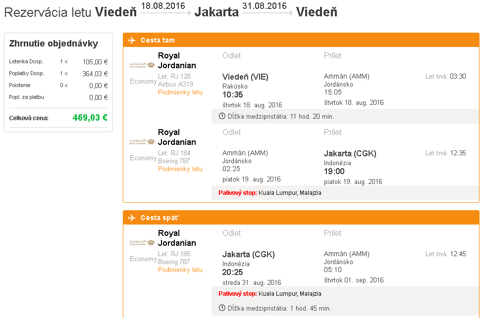 letenky Jakarta
