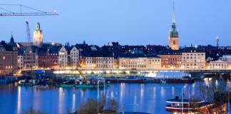 Štokholm - mesto večer