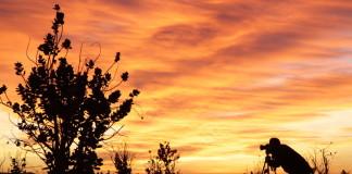 Maroko - fotograf, oranžovo ružová obloha