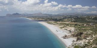 výhľad na pobrežie Rhodosu